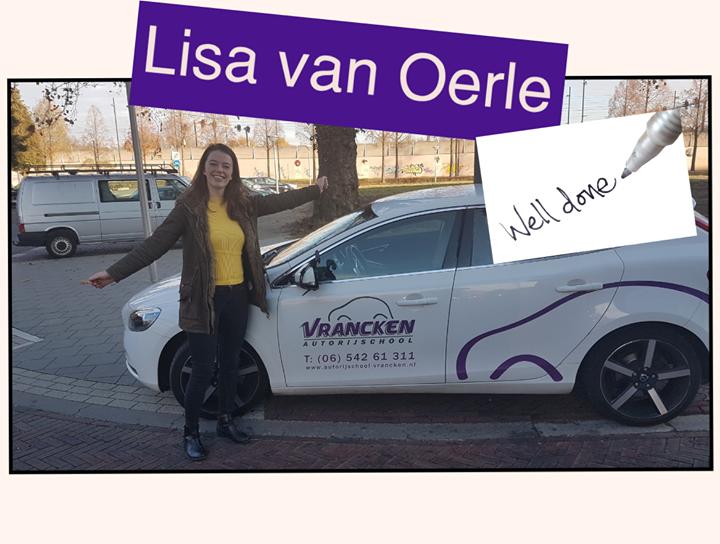 Lisa van Oerle is geslaagd op 23 november 2018